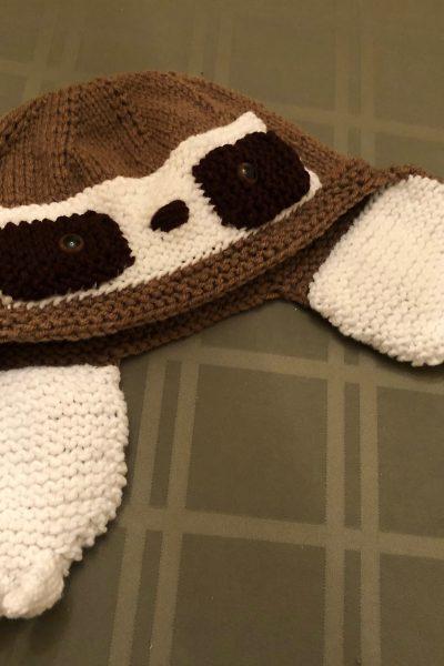 knit sloth hat
