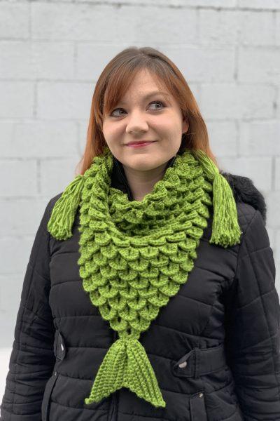 crocheted mermaid scarf
