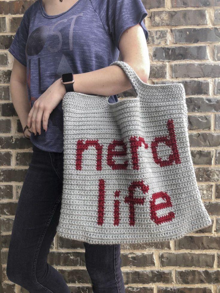 Nerd life tote bag