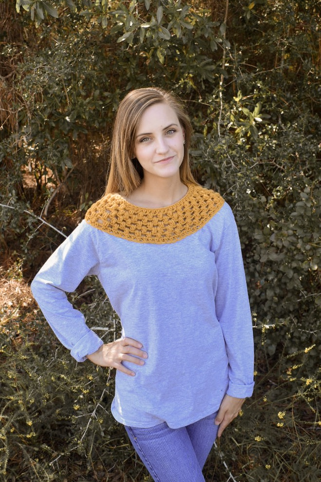 Crochet Crew Neck