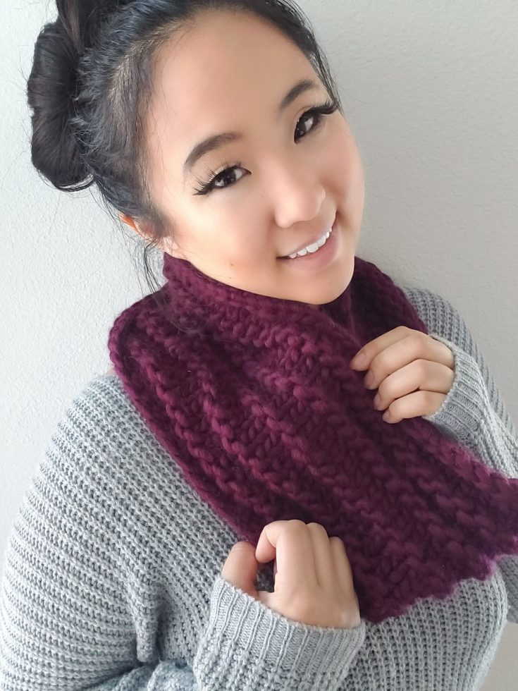 Last Minute Knit Cowl