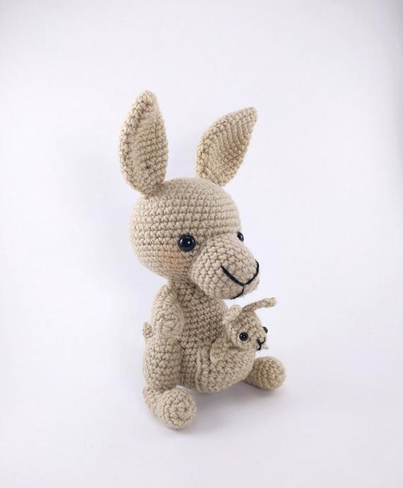 PATTERN: Kangaroo and Baby Crochet Pattern